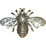 Mexican Sterling Silver Bee Pin