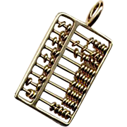 14K Gold Movable Abacus Charm or Pendant