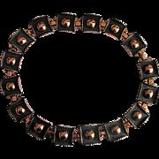 Renoir Modernist Burnished Copper Choker Necklace