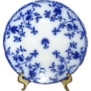 "English Flow Blue Meakin ""Colonial"" 7"" Salad Plate"