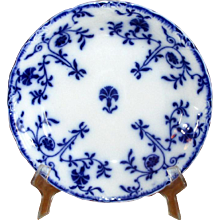 "English Flow Blue Meakin ""Colonial"" Soup Bowl"