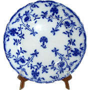 "English Flow Blue Meakin ""Colonial"" 9"" Luncheon Plate"