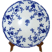 "English Flow Blue Meakins ""Colonial"" 8"" Luncheon Plate"