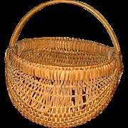 Vintage Ash Splint Market Basket