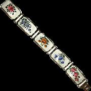 Norway Sterling & Enamel Link Bracelet