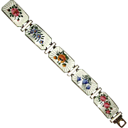 Norway Sterling & Enamel Link Bracelet