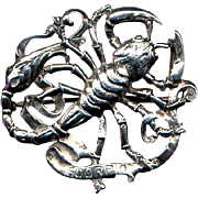 Cini Sterling Zodiac Scorpio Pin