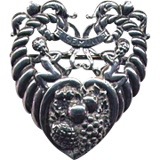 Cini Italianate Sterling Zodiac Gemini Brooch