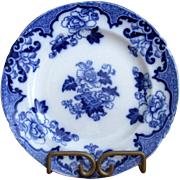 "English Cauldon Flow Blue 7 1/2"" ""Candia"" Plate"