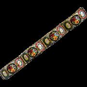 "Costume Italian Mosaic ""Millefiori"" Link Bracelet"