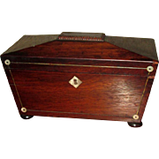 Victorian Tea Caddy with Mother of Pearl Inlay