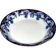 "English Flow Blue ""Iris"" Cream Soup Bowl"