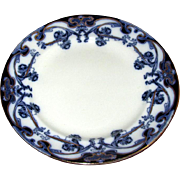"English Flow Blue ""Iris"" 9"" Plate"