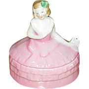 German Porcelain Trinket Box with Lovely Lady