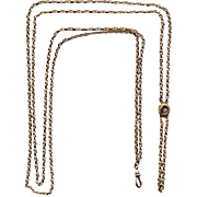 Victorian Gold-Filled Ladies' Watch Chain with Slide