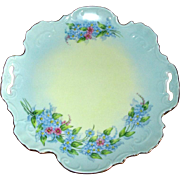 Vintage China Tray with Hand-Painted Forget-Me-Nots