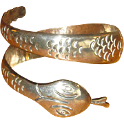 "Mexico Sterling ""BETO"" Snake Bangle Bracelet"