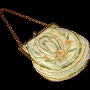 Vintage Beaded French Handbag with Chain Handle
