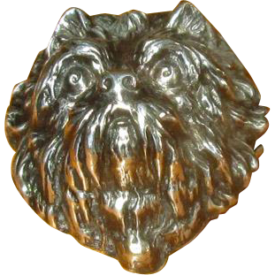 Silverplate Scotty Pin