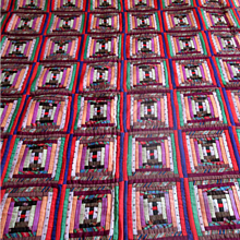 """Victorian Log Cabin """"Courthouse Steps"""" Pieced Coverlet"""