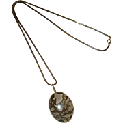 Sterling Silver Picture Jasper Pendant with Chain