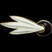 Norway Sterling Black & White Guilloche Enamel Pin