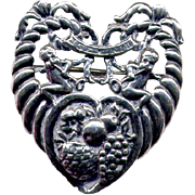 Cini Italianate Sterling Zodiac Gemini Pin