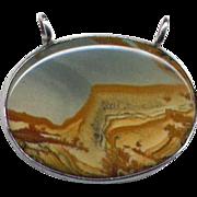 Silver Picture Jasper Pendant
