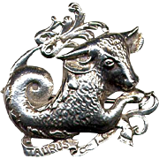Cini Sterling Zodiac Taurus The Bull Pin