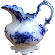 "English Flow Blue ""Margot"" Pitcher"