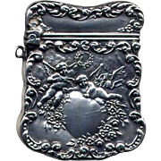 Vintage Sterling Silver Stamp Box Brooch