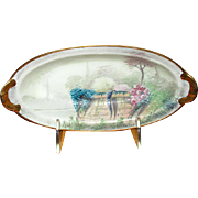 Hand-Decorated Porcelain Picard Relish Dish