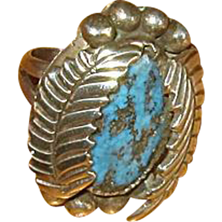Ladies' Navaho Silver and Turquoise Ring