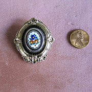 Gold-Filled Victorian Pin with Enamel Decoration