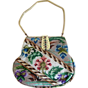 Needlepoint Purse with Fancy Jeweled Clasp