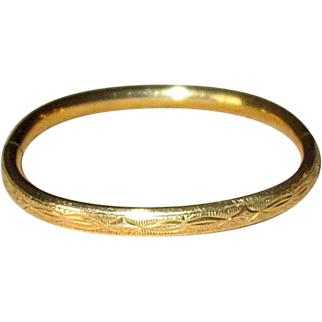 Gold Filled Baby Bangle Bracelet