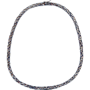 Sterling Silver Modernist Choker Necklace