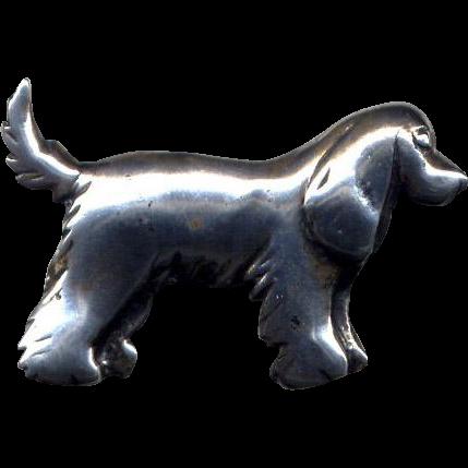 Sterling Silver Spaniel Dog Pin