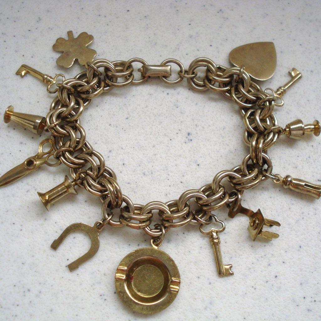 kent link charm bracelet sold on ruby