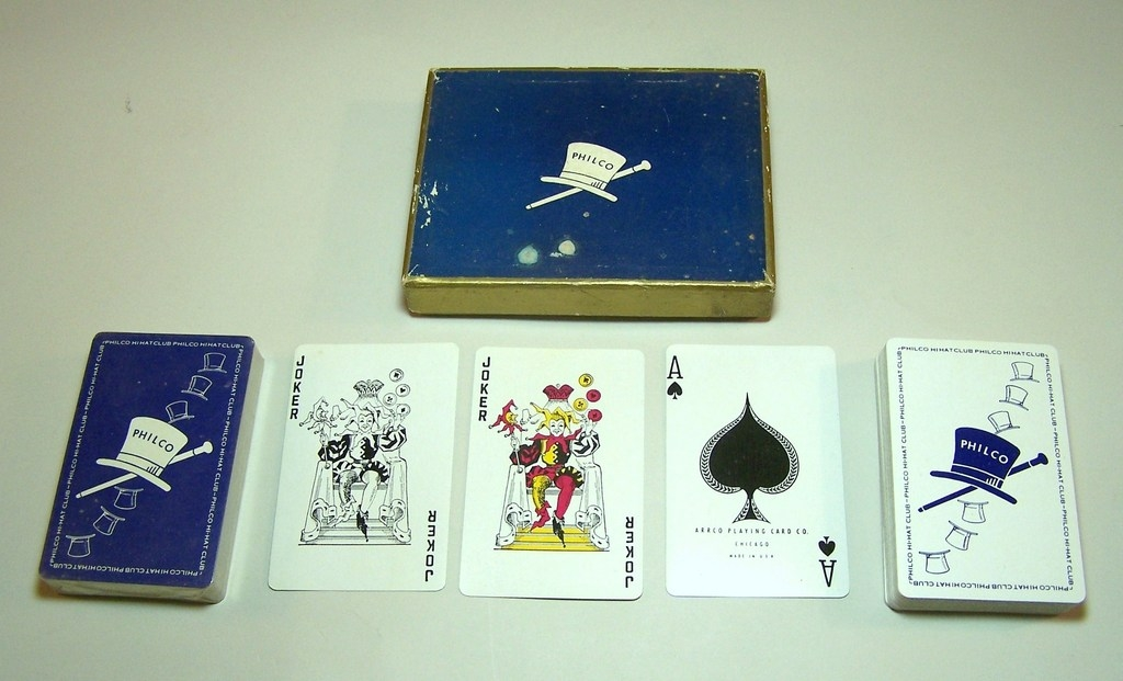 "Arrco ""Philco Hi-Hat Club"" Advertising Playing Cards, c.1950"