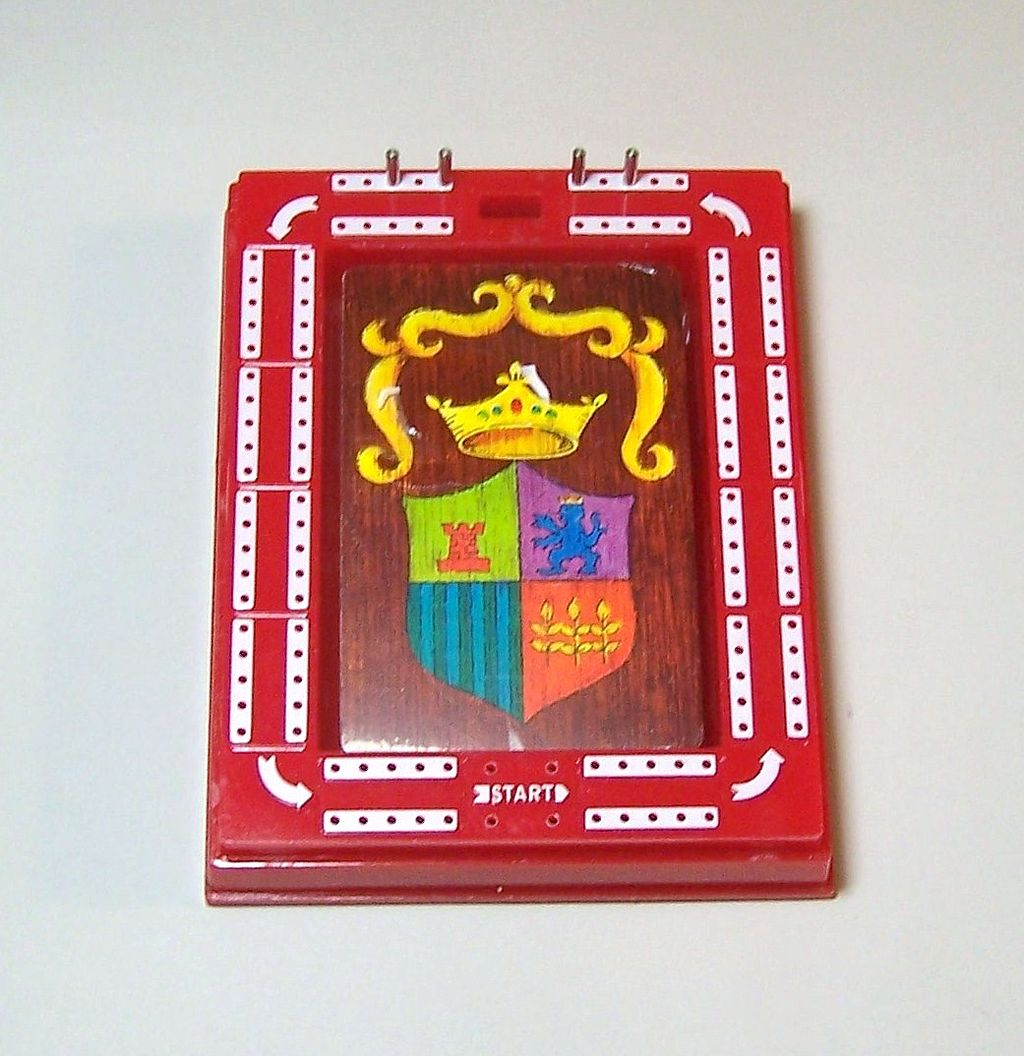 Plastic Travel Cribbage Set w/ Playing Cards, c.1970s