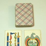 """Grimaud """"Aluette"""" Playing Cards, c.1890"""