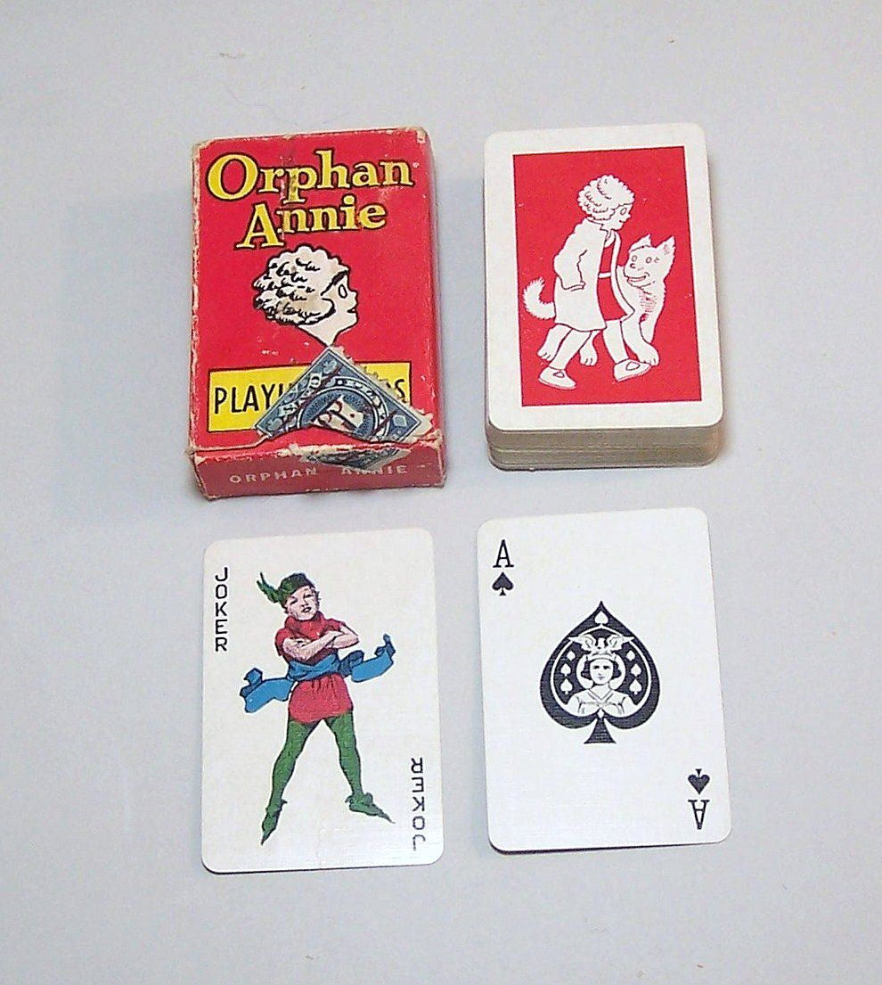 "Western ""Orphan Annie"" Miniature (Patience Size) Playing Cards, c.1930s"