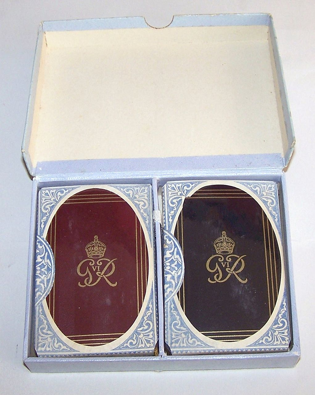 "Double Deck De La Rue ""King George VI"" Royal Family Playing Cards, Gift of King George VI to Peter Brough (Archie Andrews), c.1950"