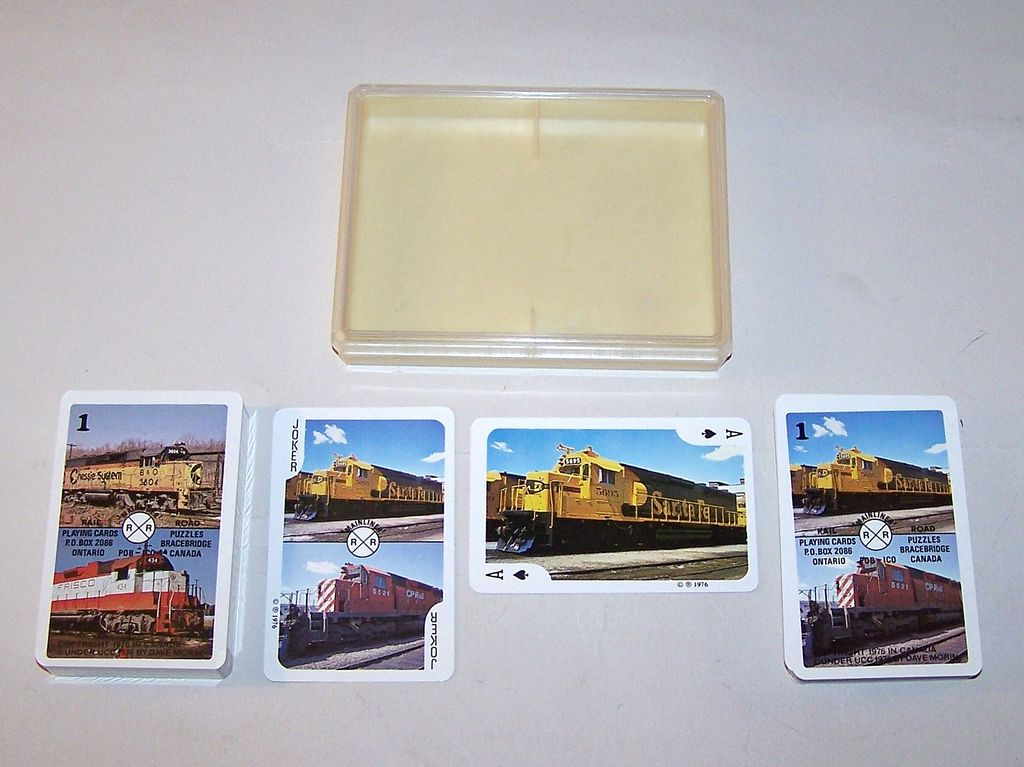 "Double Deck Railroad Playing Cards and Card Game, ""Mainliner"" (Braceridge, Ontario, Canada), Dave Morin Copyright, c.1976"