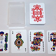 "F.X. Schmid ""Happy Playing Cards,"" Doris Tusch Designs, c.1966"