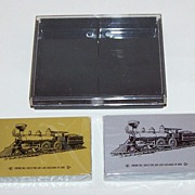 "Double Deck ""Soo Line"" Railroad Playing Cards, Commemorative 100th Anniversary Engine No.1, c.1984"