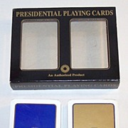 "Double Deck F.X. Schmid ""Presidential Playing Cards,"" Smithsonian Institution, c.1990s"