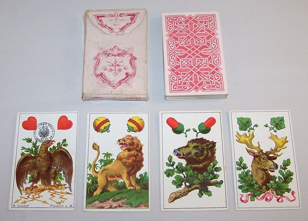 "Dondorf No. 301 ""German"" (""Deutsche Spielkarten No. 301"") Playing Cards, c.1884"