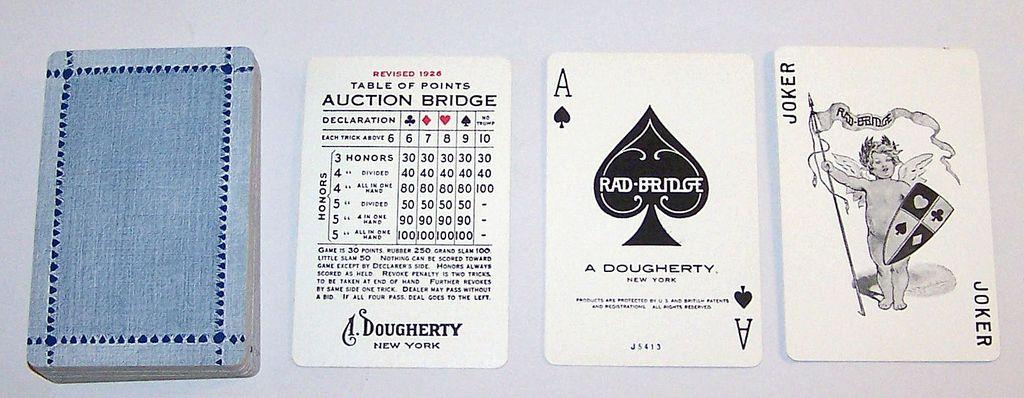 "A. Dougherty ""Radbridge"" Playing Cards, c.1927"